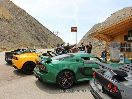 Lotus München goes Jaufenpass & Timmelsjoch