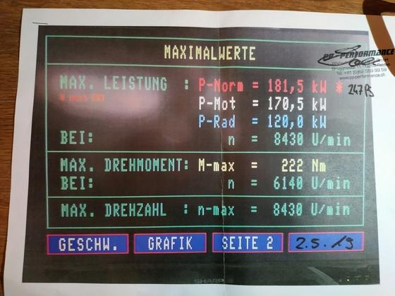 Leistungsmessung Exige S240 1.8l 2zz-ge + MP62